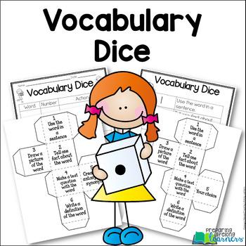 Vocabulary Cubes {Dice} for Vocabulary Review