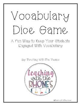 Vocabulary Dice Game
