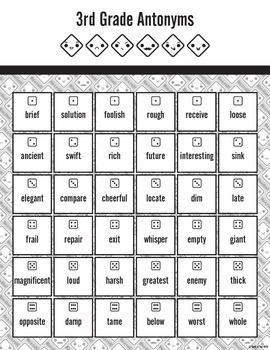 Vocabulary Dice Game Bundle (Synonyms, Antonyms, and Homophones/Homonyms)