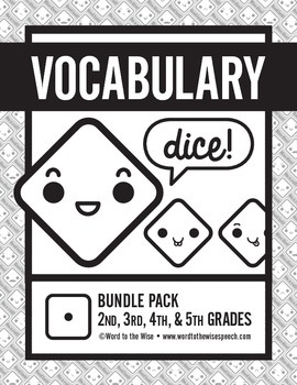 Vocabulary Dice Game Bundle (Synonyms, Antonyms, and Homop