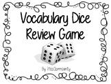 Vocabulary Dice Review Game