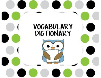 Vocabulary Dictionary Page