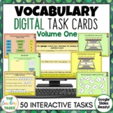 Vocabulary Digital Task Cards Paperless Google Drive® Resource