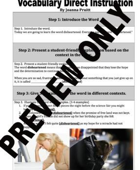 Vocabulary Direct Instruction