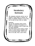 Vocabulary Dominoes- A Package for Mrs. Jewls