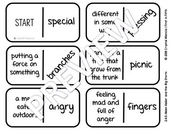 Vocabulary Dominoes CENTER - Reading Street Grade 2 Unit 4