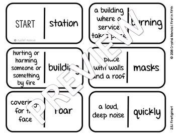 Vocabulary Dominoes CENTER - Reading Street Grade 2 Unit 5
