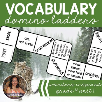 Vocabulary Dominoes CENTER - Wonders Grade 4 Unit 1