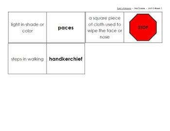 Vocabulary Dominoes - Reading Street 2013 - 3rd Grade - Unit 5