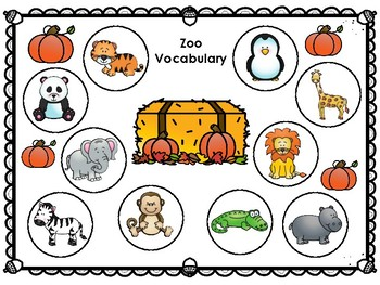 Vocabulary Dough Smash Mats- Fall Themed Backgrounds