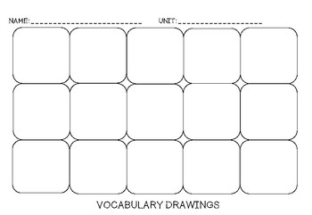 Vocabulary Drawing Boxes