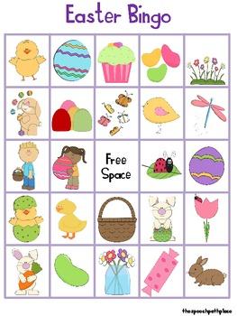 Vocabulary Easter Bingo