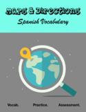 """Vocabulary: """"El Mapa y Las Dirrecciones"""""""
