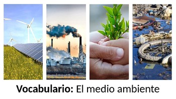 Vocabulary - El medio ambiente - PowerPoint- Realidades 3 - Chapter 9