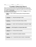 Vocabulary Enhancement for The Crucible and Beyond