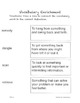 Vocabulary Enrichment Activities