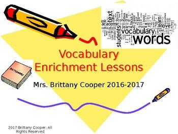 Vocabulary Enrichment Activity Ideas