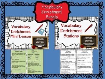 Vocabulary Enrichment Bundle, Mini-Lesson & Stations