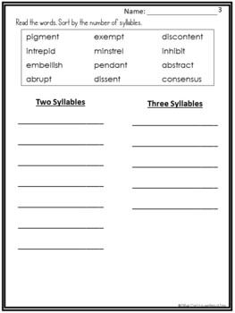 Vocabulary Enrichment: Challenging 2 and 3 Closed Syllable Words