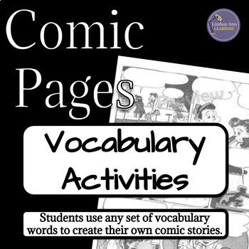 Comic Pages Vocabulary Activity