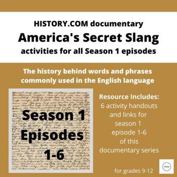 "Vocabulary & Etymology using ""America's Secret Slang"" documentary on History.com"