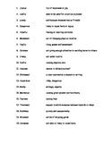 Vocabulary Exercise 1