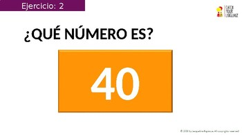 EXAMPLE (The numbers 0-100)+ with  INTERACTIVE exercises