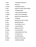 Vocabulary Exercise 3