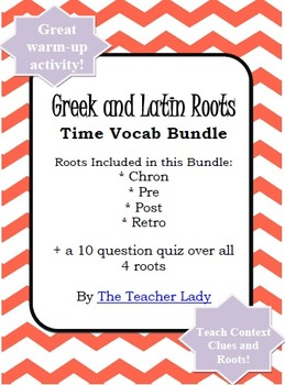 Vocabulary Exercise: Greek and Latin Roots - It's about Time!