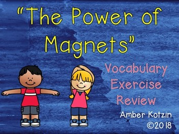 Vocabulary Exercise Review: The Power of Magnets Journeys 3rd Grade