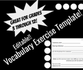Vocabulary Exercise Template