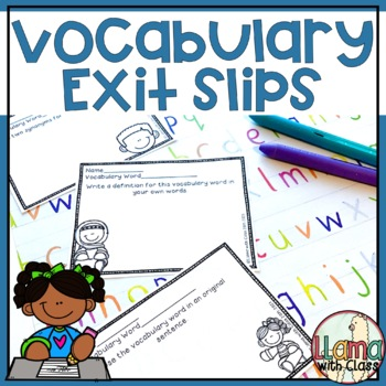Vocabulary Exit Slips to Use with any Vocabulary Words