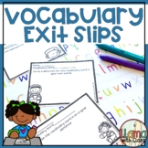 Vocabulary Exit Tickets to Use with any Vocabulary Words