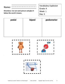 Daily Kindergarten Vocabulary Explosion - Daily Vocabulary Lessons