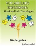 Daily Kindergarten Vocabulary Explosion - Daily Vocabulary