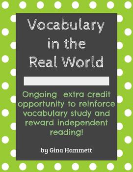 Vocabulary Extra Credit
