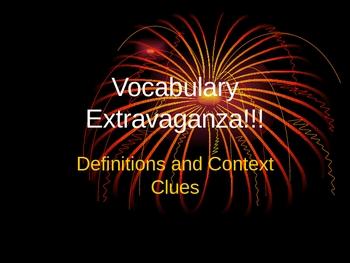 Vocabulary Extravaganza!