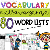 Vocabulary Extravaganza - Mega Packet with 80 Vocabulary Lists