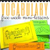 Vocabulary FREE WEEK Sampler for K-2 Primary