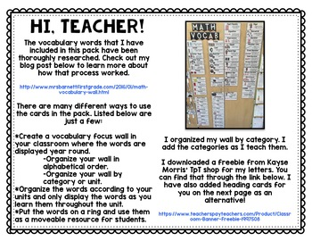 Vocabulary FULL Bundle - Math, Language Arts, Science, Social Studies