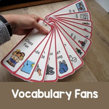 Vocabulary Fans for kids with Special ED