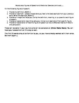 Vocabulary: Figures of Speech 2 Instructions
