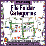 Categorization - File Folder Activities for Improving Vocabulary