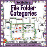 Vocabulary File Folder Activity for Categorization