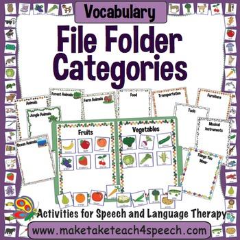 Vocabulary File Folder Activity for Categorization
