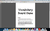 Vocabulary File Folder Game