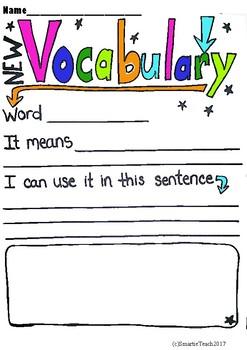 Vocabulary Fill In