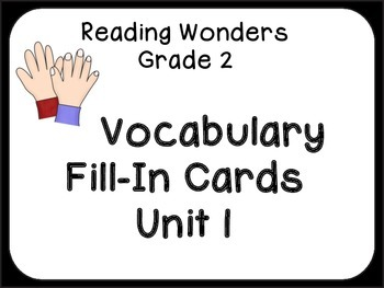 Vocabulary Fill-In Cards