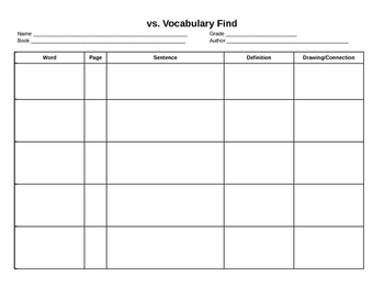 Vocabulary Find