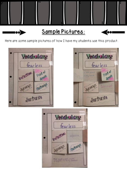 Vocabulary Flap Book